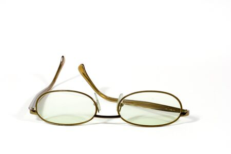 nearsighted: the pair of eyeglasses isolated on white