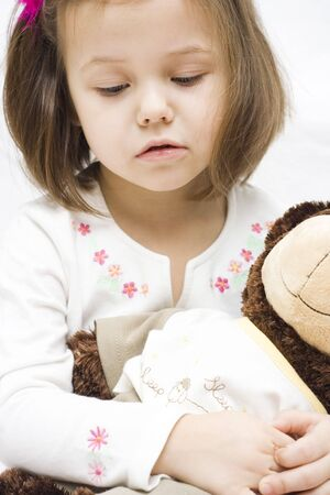 little girl with her toy. best friends. Stock Photo - 2316661