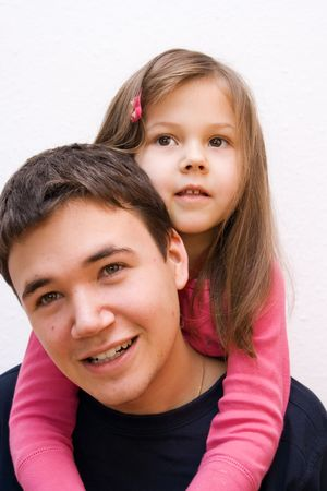 the brother and sister having fun together Stock Photo - 4786360