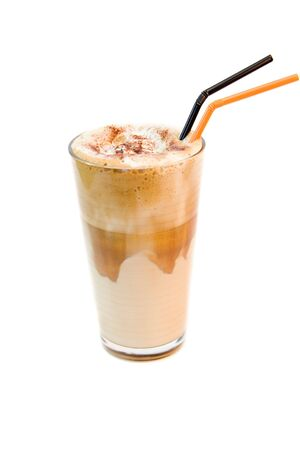 frappe: greek cold coffee - frappe isolated on white