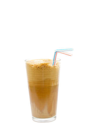 fredo: Greek cold coffee - frappe isolated on white