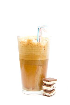 fredo: Freddo caff� greco - frappe isolata on white