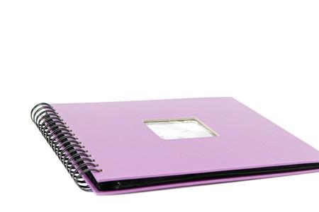 classic violet photo album isolated on white Stock Photo - 7856266