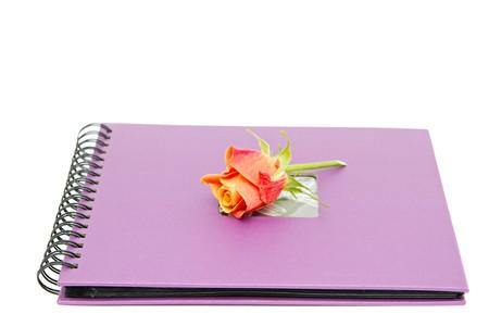 classic violet photo album isolated on white Stock Photo - 7856273