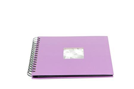classic violet photo album isolated on white Stock Photo - 7937948