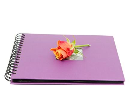 classic violet photo album isolated on white Stock Photo - 7937951