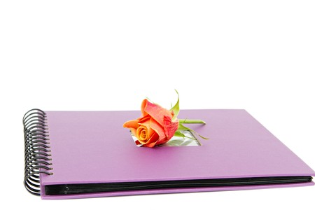 classic violet photo album isolated on white Stock Photo - 7937959