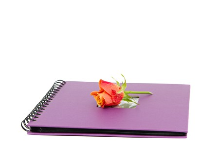 classic violet photo album isolated on white Stock Photo - 8091413