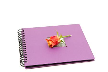 classic violet photo album isolated on white Stock Photo - 8441074