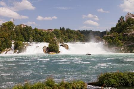 the Rhine waterfalls in Switzerland - schaffhausen