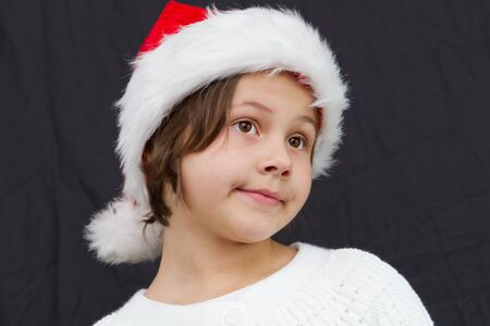 little girl dressed like a santa claus Stock Photo - 12171431