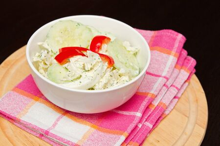 a fresh cucumber salad in a bowl Stock Photo - 14255740