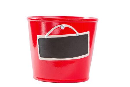 flowerpot: the red flowerpot isolated on white