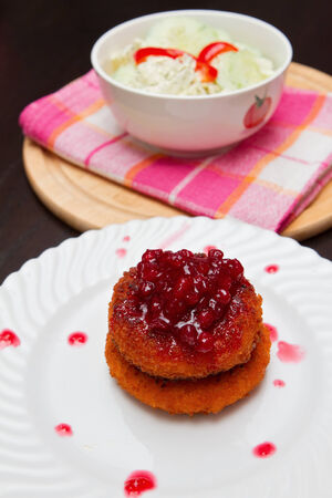 the fresh baked camembert with cranberry sauce photo