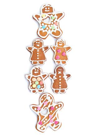 galletas de jengibre: Las galletas de jengibre aislados sobre fondo blanco Foto de archivo