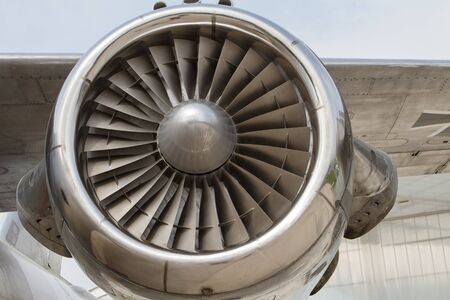 airplane engine: the close up of an airplane engine