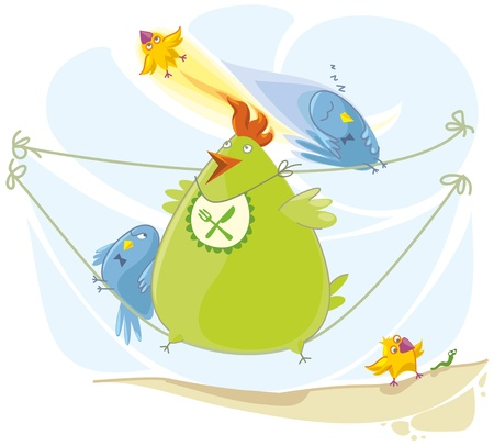 squashed: Birds are sitting squashed together, flying, sleeping, hunting after worm.
