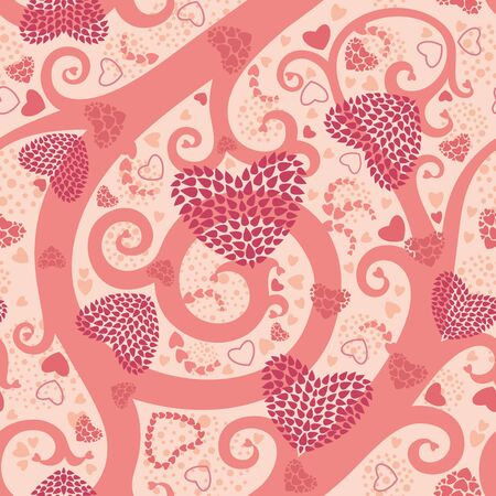 Seamless pattern with hearts. Illustration