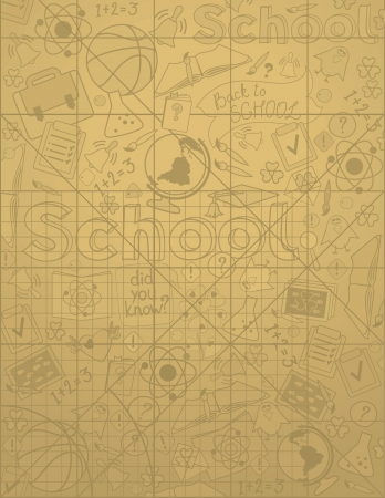 Vector vertical background on school theme