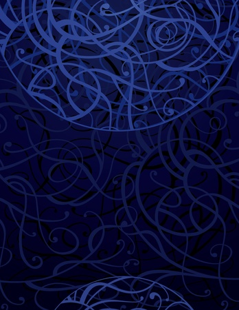 Vector vertical background with abstract swirls
