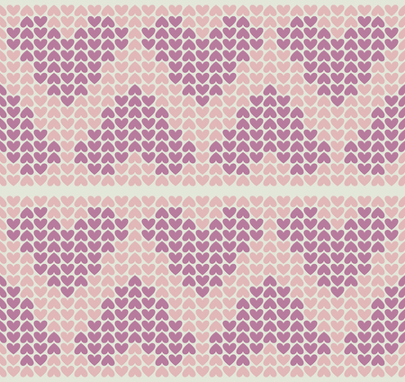 Vector seamless pattern with little hearts. Soft colors. Illustration
