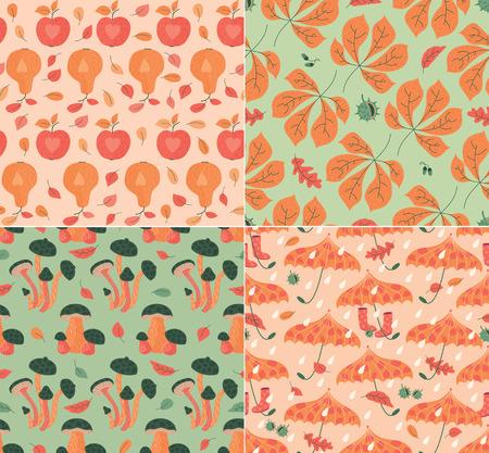 Autumn Patterns Illustration