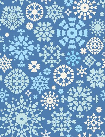 Abstract seamless texture on winter theme for wallpapers, background, pattern fills. Illustration