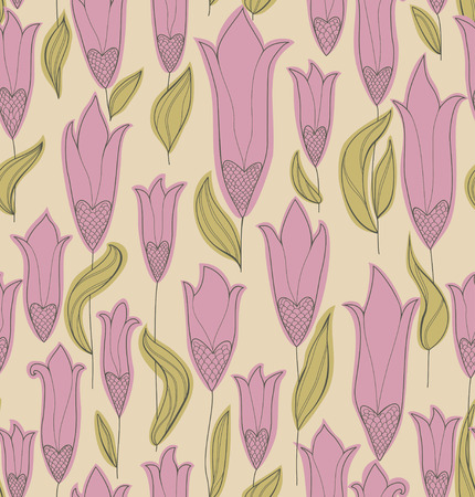 Seamless background with flowers.