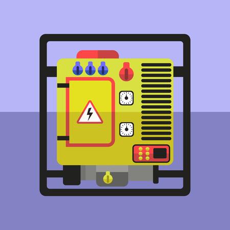 generator: Flat yellow generator