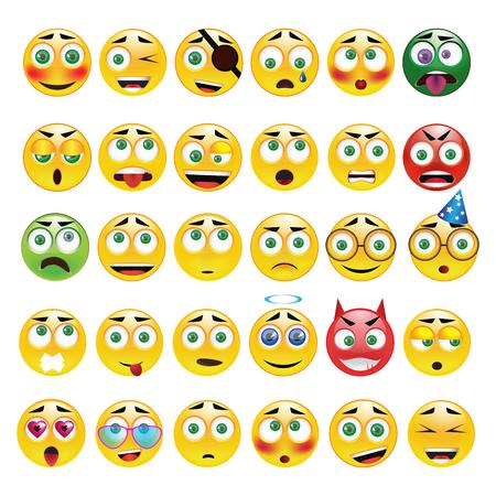 ojos llorando: emoticon amarillo con diferentes emociones,