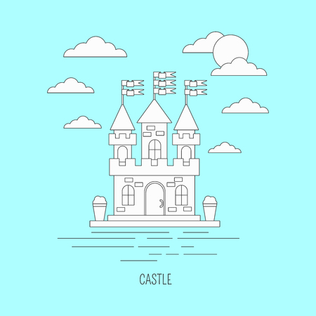 lineart: Lineart castle illustration