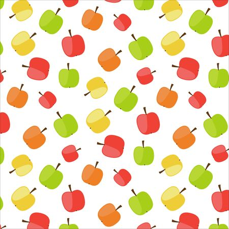 analogous: Apple seamles pattern, vegetarian, fruits pattern, different colors Illustration
