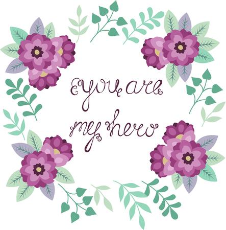 purple flowers: Cute purple flowers wreath