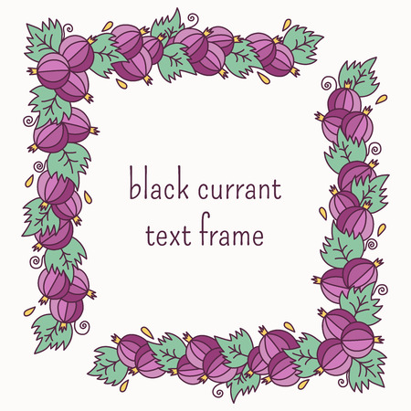 red currant: Black currant text frame border for text
