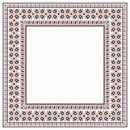 lappet: Colorful cross stitch square border