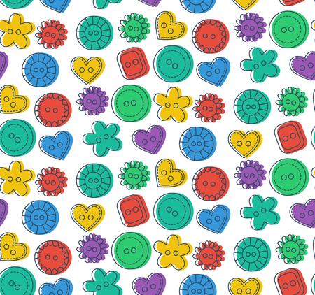 Buttons seamless vector pattern