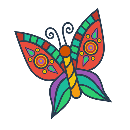 Butterflysimple colorful vector icon.