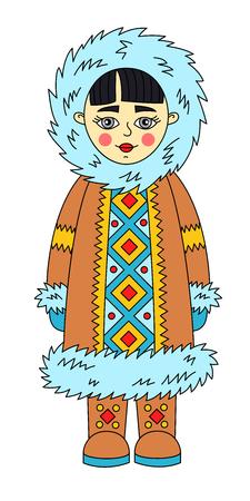 Eskimo charcter colorful cute vector illustration