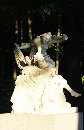 Cupid and Psyche Sculpture Group in The Summer Garden.