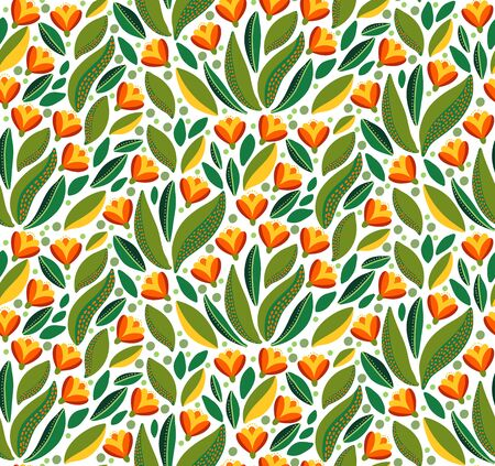 Flowers floral beautiful colorful seamless vector pattern