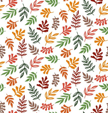 Floral fall autumn colorful seamless vector pattern