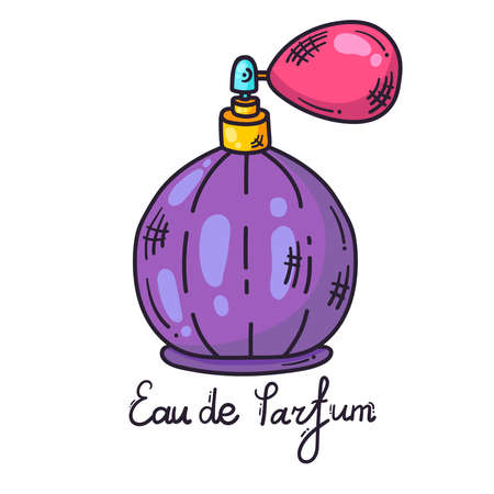 Eau de parfum fragrance colorful cartoon vectoricon