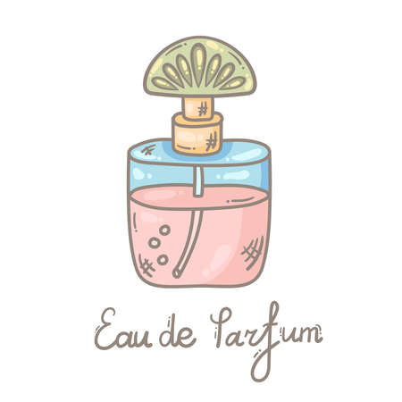Parfume glamor bottle vector icon. Vector illustration isolated 일러스트