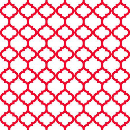 Morocco style red abstract seamless vector pattern 일러스트