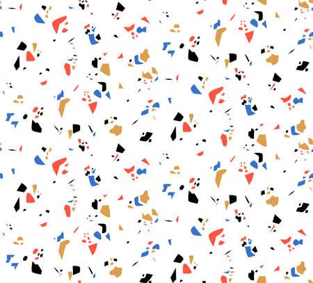 Crub stone abstract art seamless vector pattern
