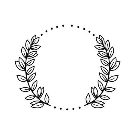 Floral decorative black line simple vector design