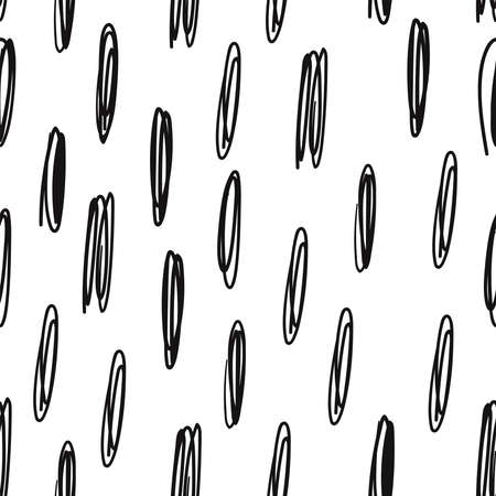 Doodle scribble abstract pen seamless vector pattern 일러스트