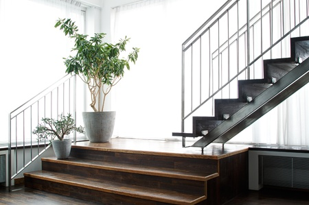 Indoor scene with stairs grest as a background Stock Photo - 16869340