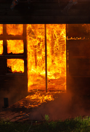 engulfed: Part of house engulfed in flames