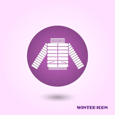ski wear: Winter jacket icon Stock Photo